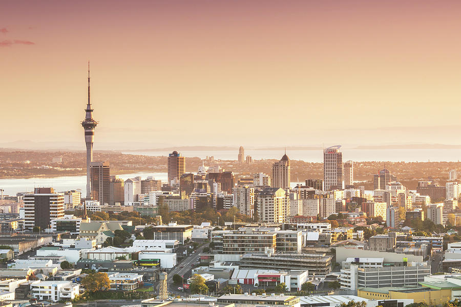 Elevated View Of Auckland City And Cbd Photograph by Matteo Colombo