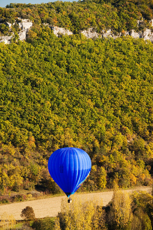 Color Image Photograph - Elevated View Of Hot Air Balloon by Panoramic Images