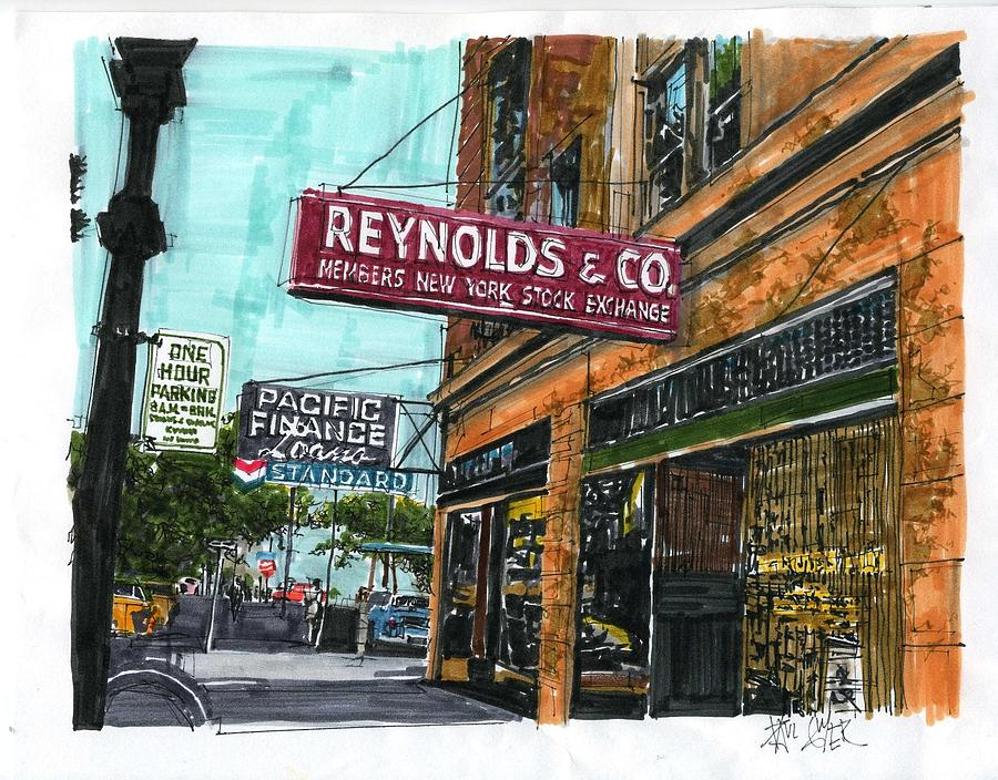 Sacramento Painting - Eleventh And I Streets by Paul Guyer