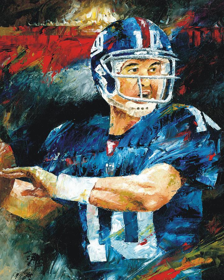 Eli Painting - Eli Manning by Christiaan Bekker