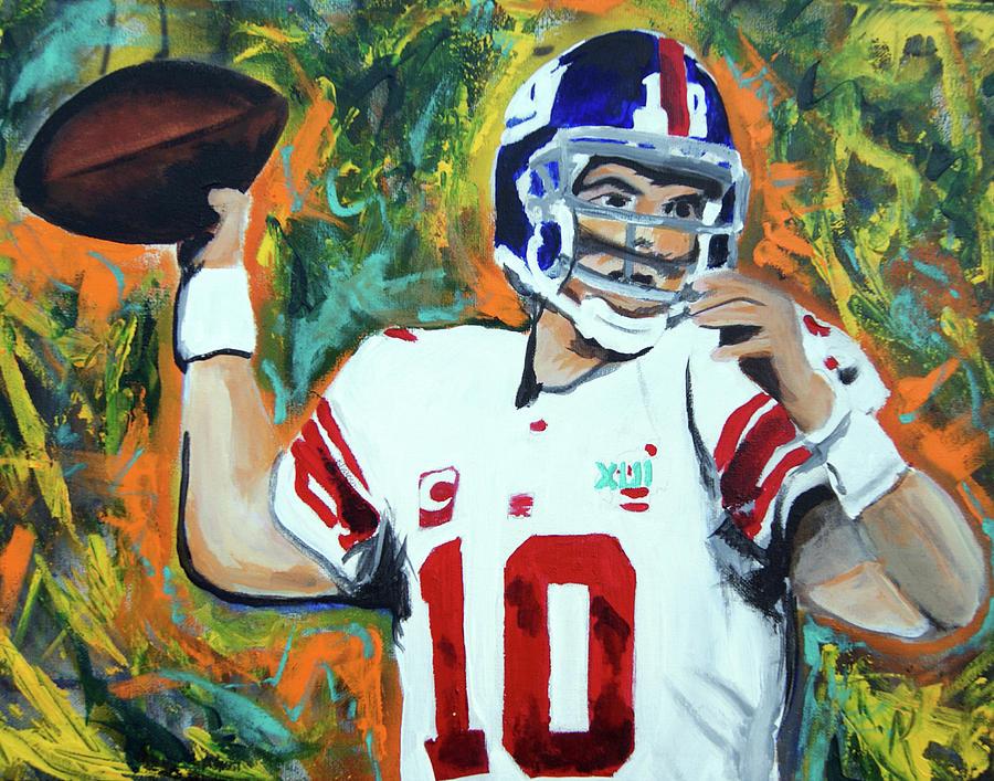 Eli Manning Painting - Eli Manning by Ottoniel Lima