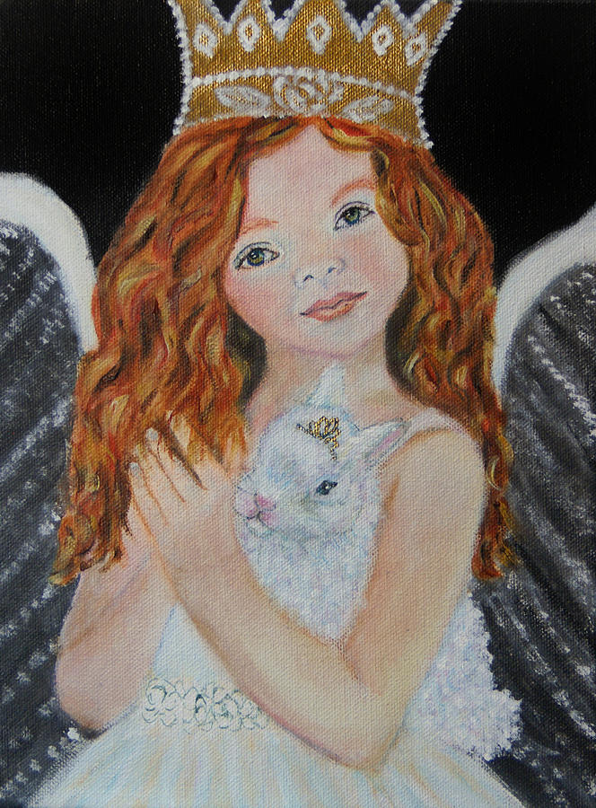 Angel Painting - Eliana Little Angel Of Answered Prayers by The Art With A Heart By Charlotte Phillips