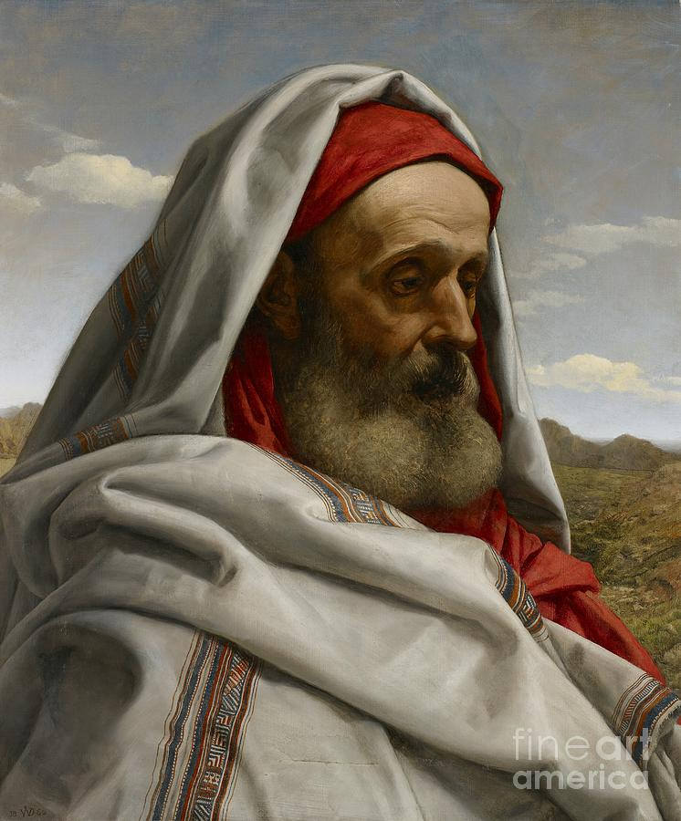 Portraits Painting - Eliezer Of Damascus by William Dyce