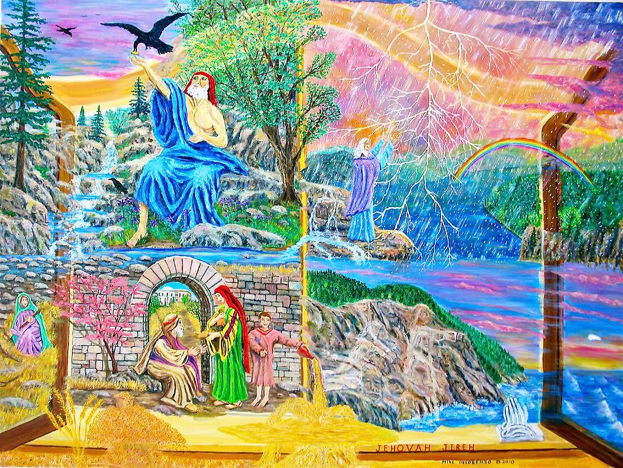 Elijah Painting - Elijah by Mike De Lorenzo