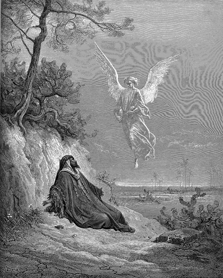 Elijah Nourished By An Angel Painting