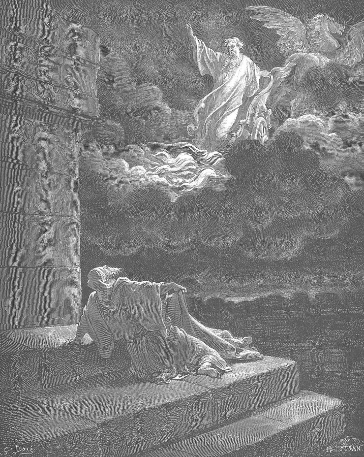 Elijah Taken Up To Heaven In A Chariot Of Fire Painting