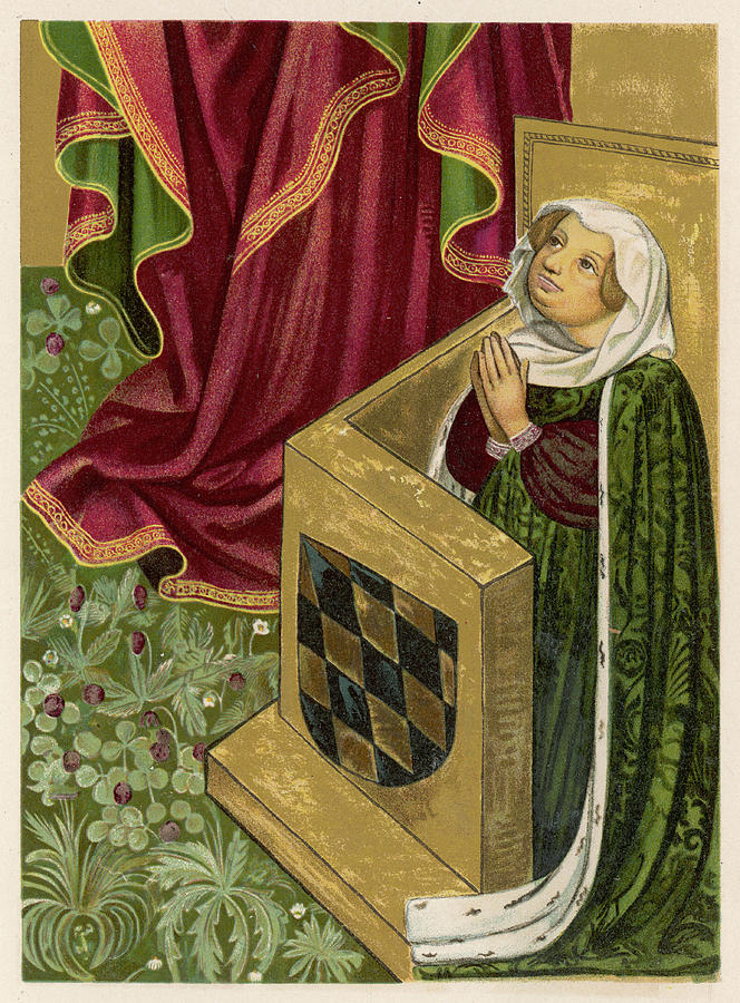 Elisabeth Drawing - Elisabeth Von Brandenburg Wife by Mary Evans Picture Library