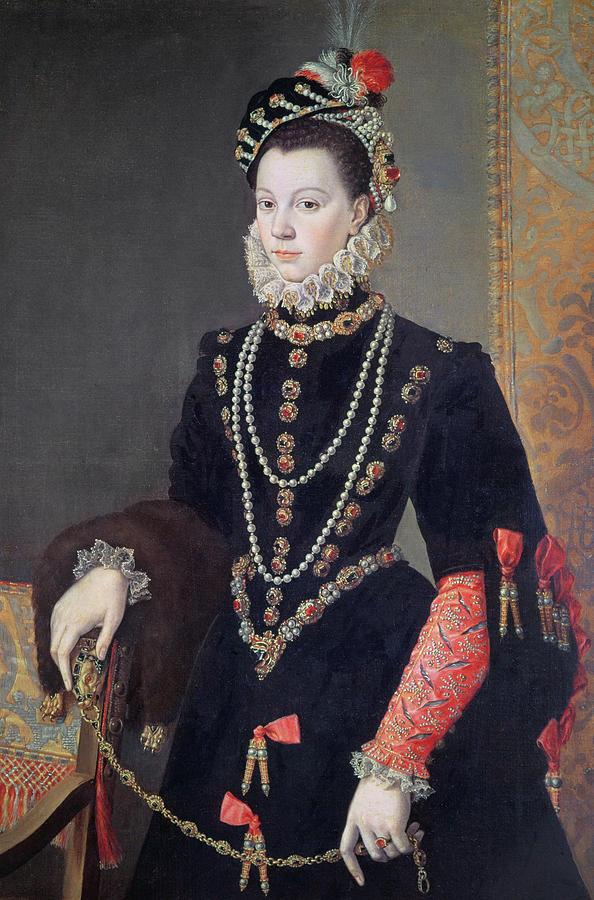 Sanchez Coello Painting - Elizabeth De Valois by Alonso Sanchez Coello