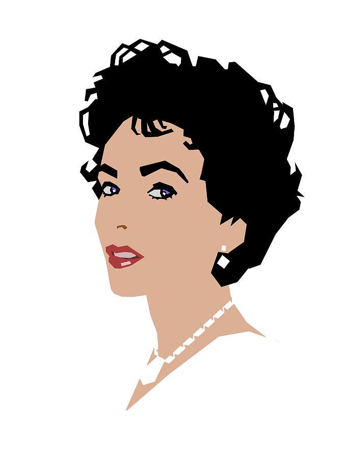 Elizabeth Taylor Digital Art - Elizabeth by Douglas Simonson