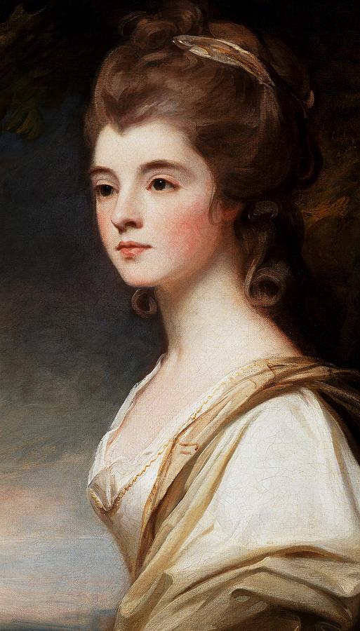 Elizabeth Painting - Elizabeth Duchess of Sutherland by George Romney