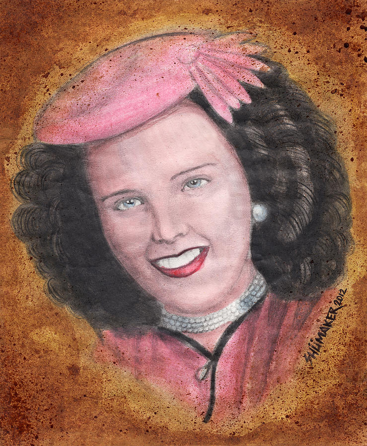 Prison Paintings Paintings Mixed Media Painting - Elizabeth Short Before by David Shumate