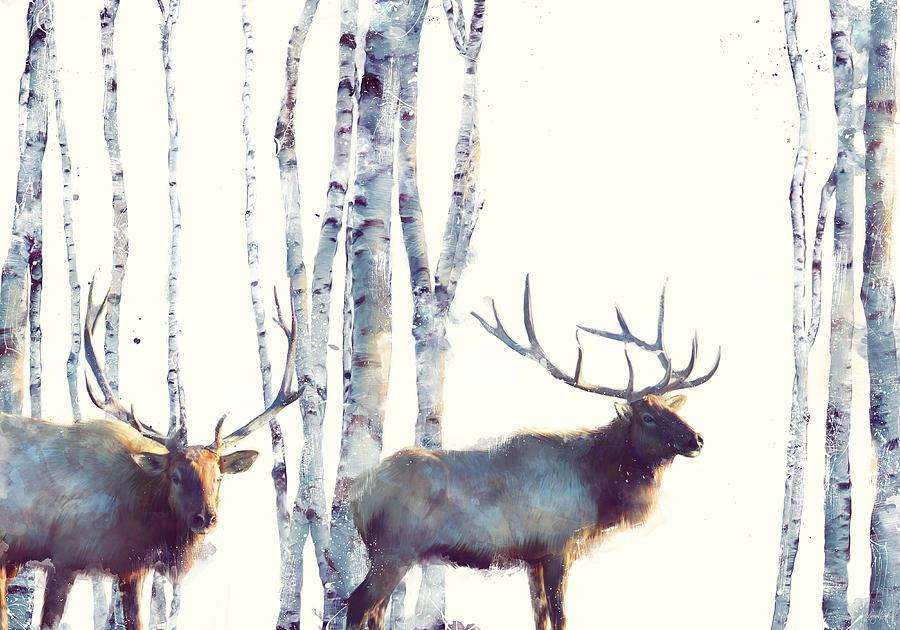 Elk Painting - Elk // Follow by Amy Hamilton