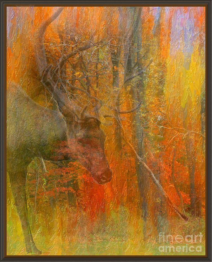 Elk impression by Bobbie Turner