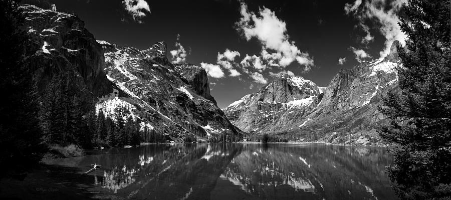 Elk Lake Panorama 3bw Photograph by Roger Snyder