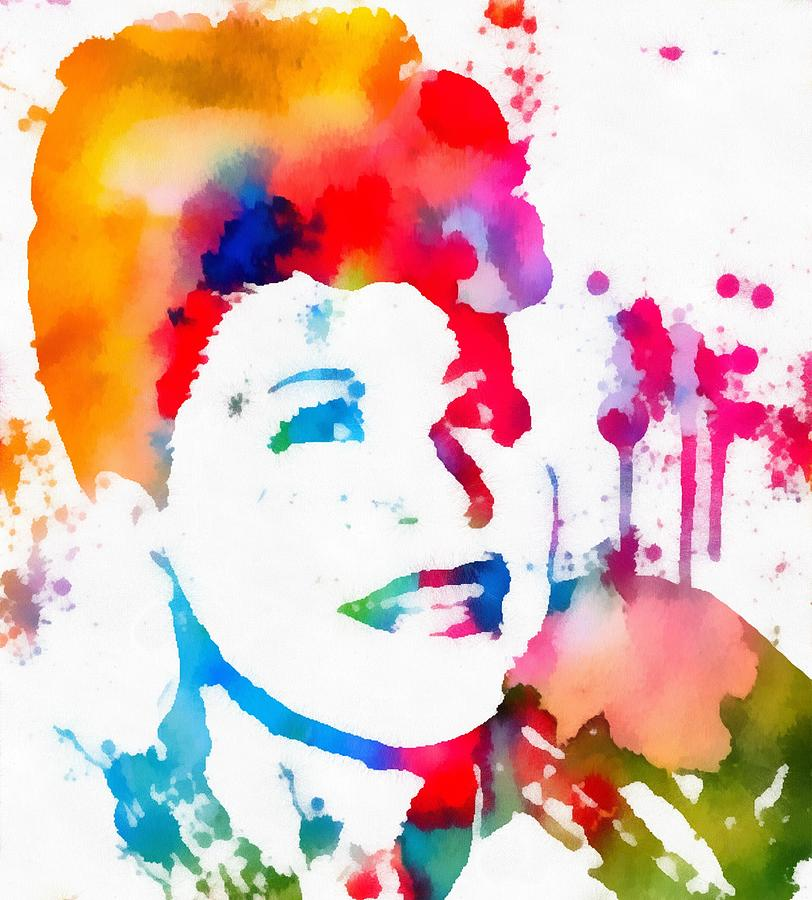 Ella Fitzgerald Painting - Ella Fitzgerald Paint Splatter by Dan Sproul