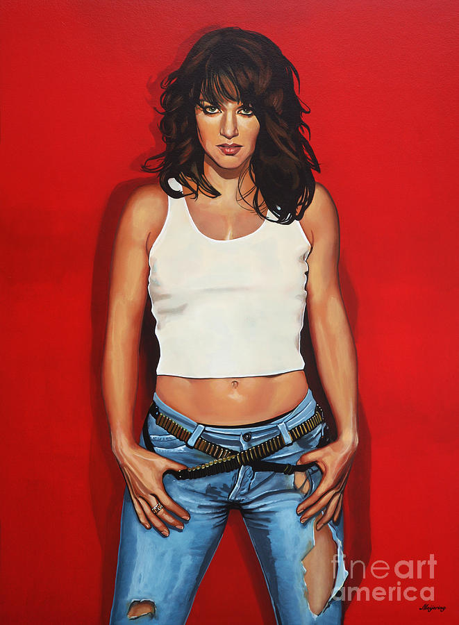 Singer Painting - Ellen Ten Damme Painting by Paul Meijering