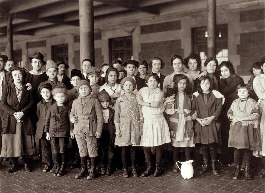 1908 Photograph - Ellis Island, C1908 by Granger