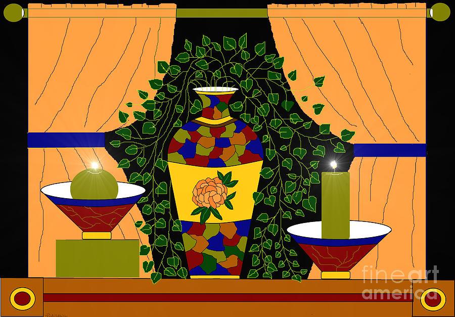 Vase Painting - Eloquent Design by Lewanda Laboy
