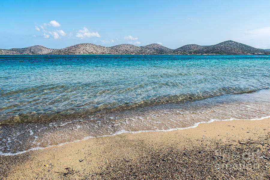 Beach Photograph - Elounda Beach by Luis Alvarenga