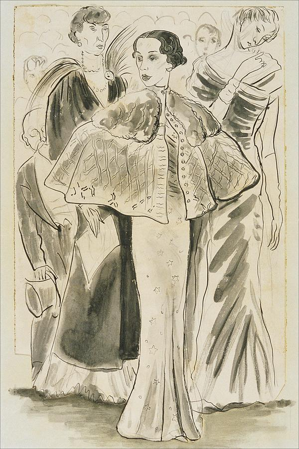 Elsa Schiaparelli Wearing A Cape Digital Art by Cecil Beaton