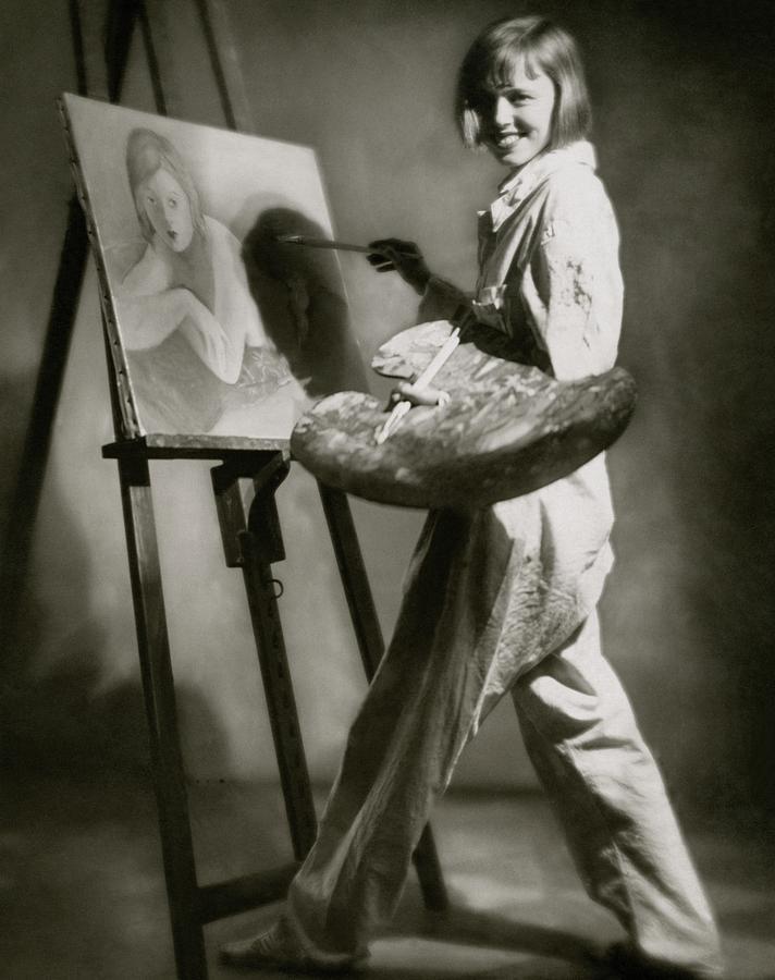 Elsa Von Reppert Bismarck Painting Photograph by Rolf Mahrenholz