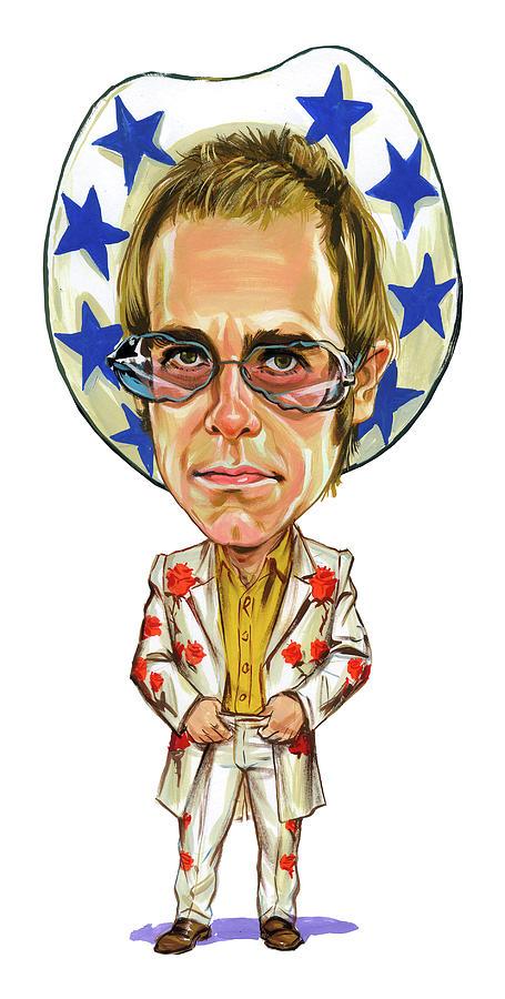 Elton John Painting - Elton John by Art