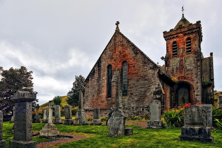 Landscape Photograph - Elvanfoot Parish Church by Marcia Colelli