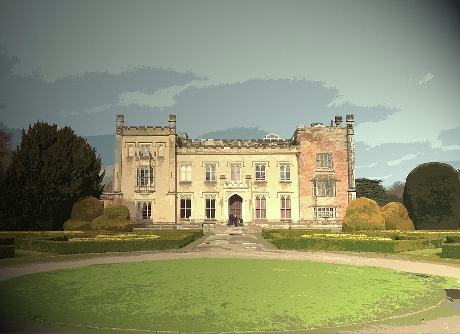 Elvaston Castle Gothic Revival Manor House Which Forms Drawing By
