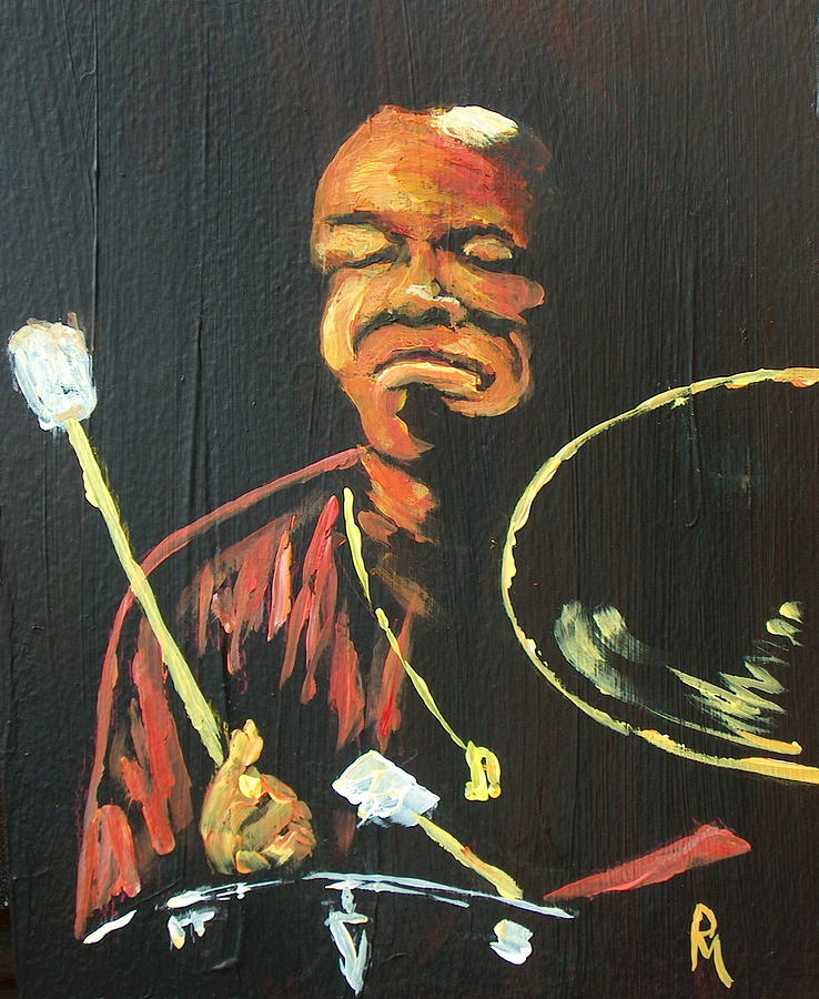Drums Painting - Elvin IIi by Pete Maier
