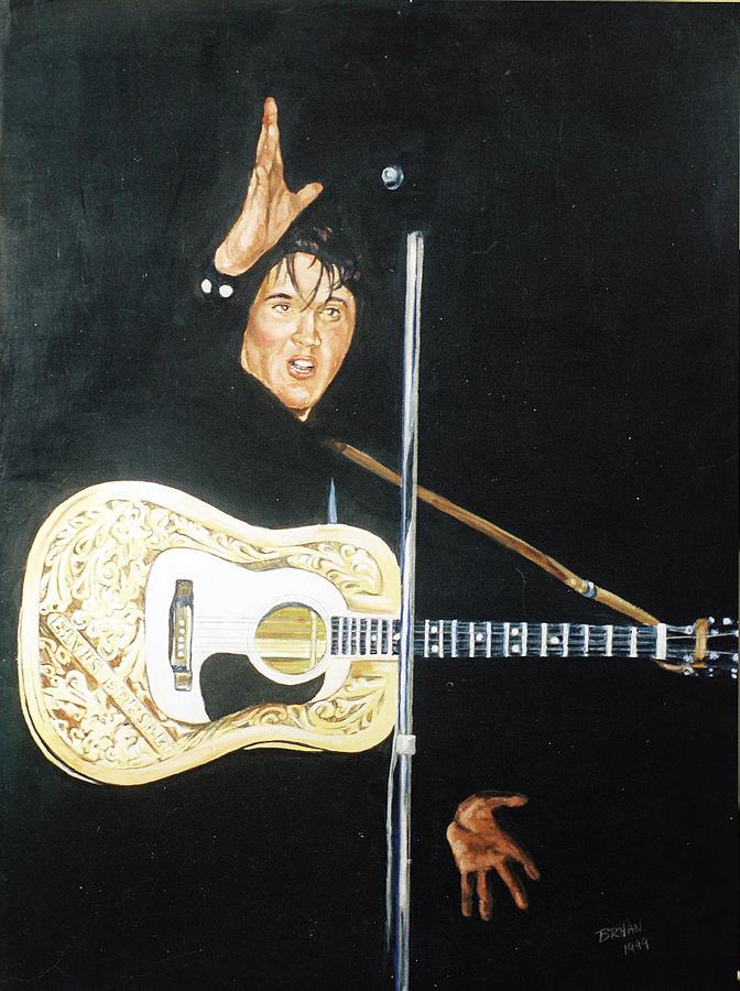 Elvis Presley Painting - Elvis 1956 by Bryan Bustard