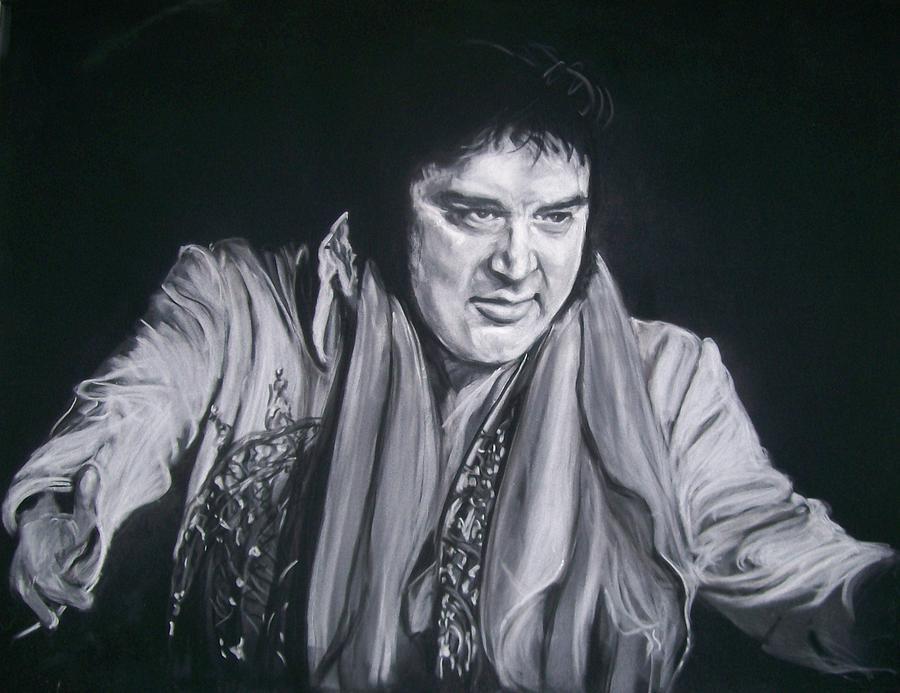 Elvis King Of Rock And Roll - Knapste mannen, Ouderwetse ...  |1977 Elvis Painting