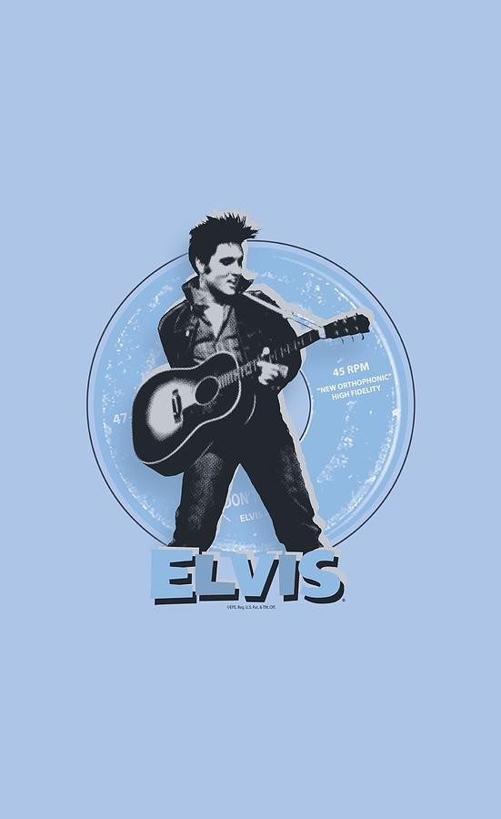 Elvis Digital Art - Elvis - 45 Rpm by Brand A