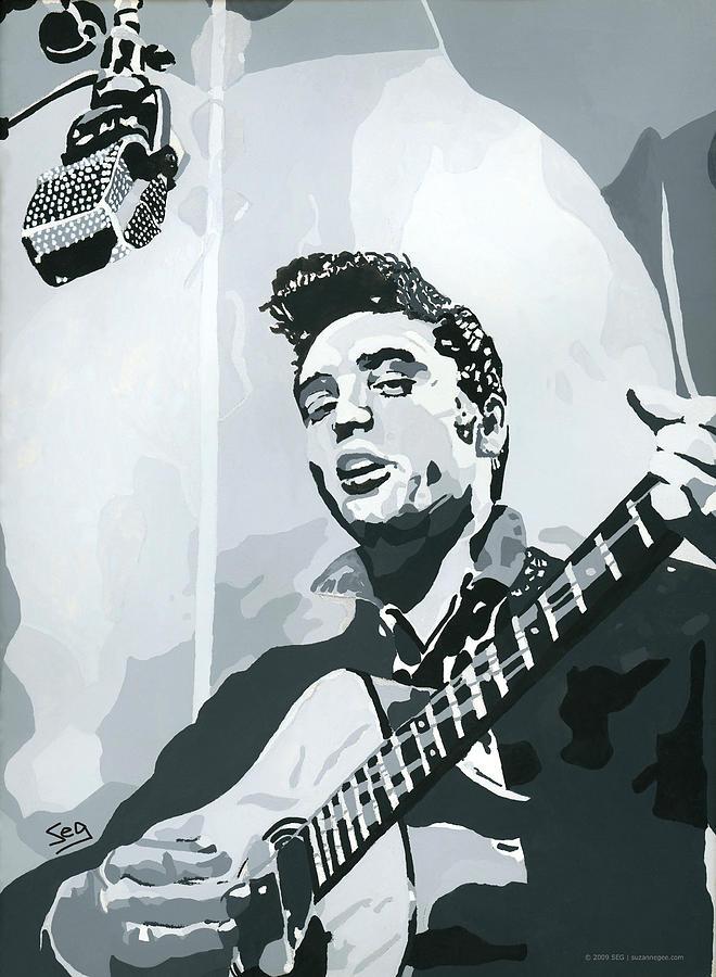 Elvis Presley Painting - Elvis At Sun by Suzanne Gee