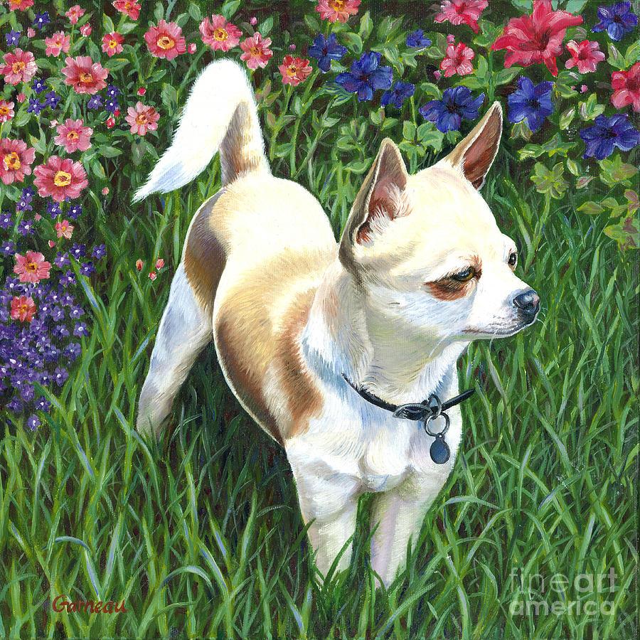 Chihuahua Painting - Elvis by Catherine Garneau