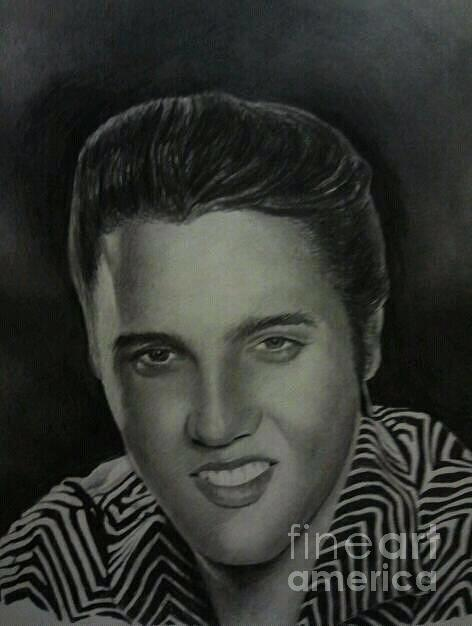 Elvis Drawing By Clarence Pointer