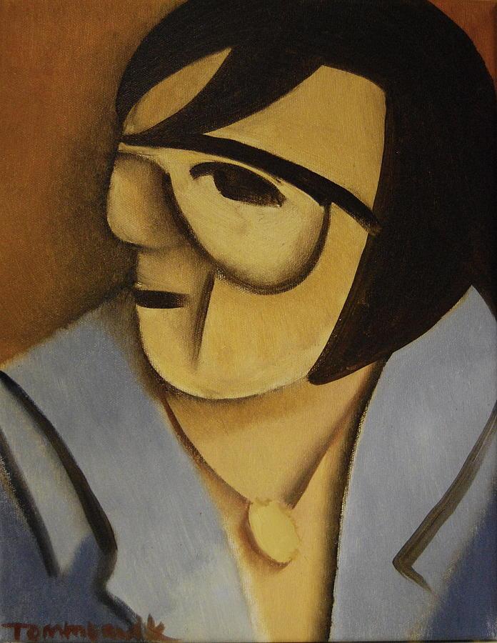 Elvis Painting - Elvis Cubism Portrait Art Print by Tommervik