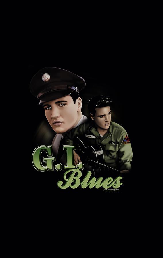 Elvis Digital Art - Elvis - G I Blues by Brand A