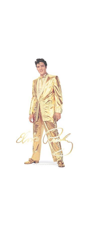 Elvis Digital Art - Elvis - Gold Lame Suit by Brand A