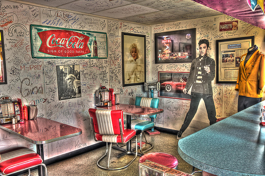 Elvis Photograph - Elvis Is In The Building by David Neesley