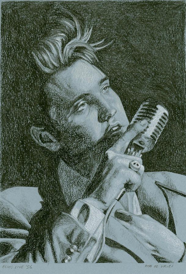 Elvis Painting - Elvis Live 56 by Rob De Vries