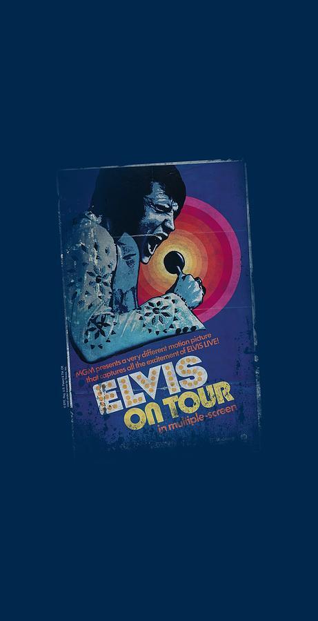 Elvis Digital Art - Elvis - On Tour Poster by Brand A