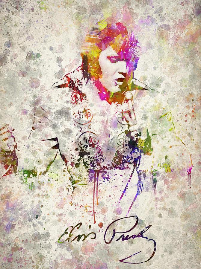 Elvis Presley Drawing - Elvis Presley by Aged Pixel