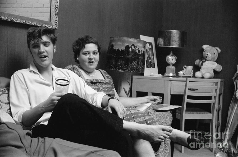 Elvis Presley And His Mother Gladys 1956 Phillip Harrington on Metal Wall Art For Living Room