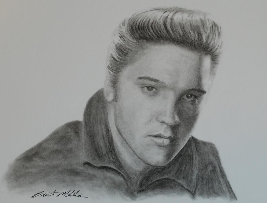 Elvis Presley Drawing - Elvis Presley by Brent  Mileham