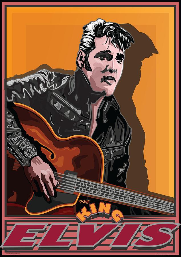 Celebrity Portrait Digital Art - Elvis Presley by Larry Butterworth