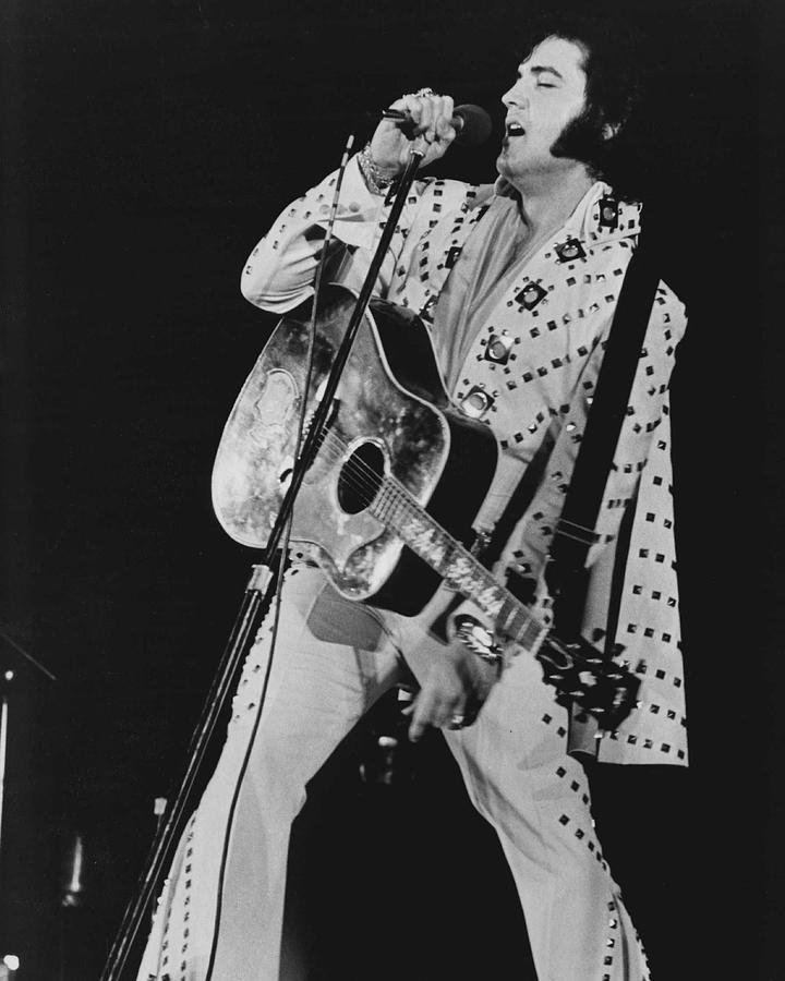 Classic Photograph - Elvis Presley Sings by Retro Images Archive