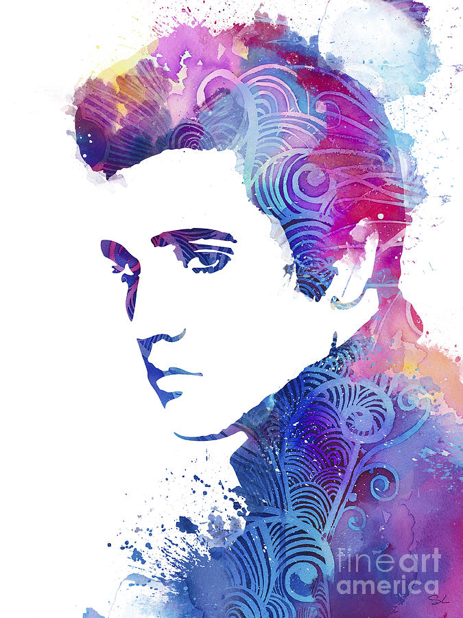 Elvis Presley Painting By Watercolor Girl