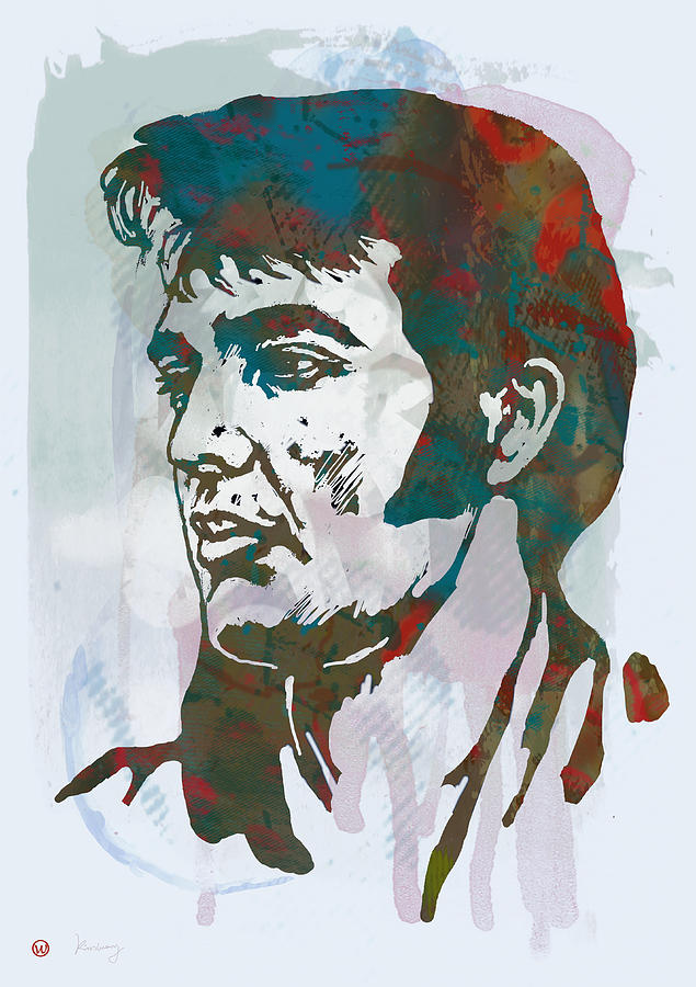 Musician Drawing - Elvis Presley - Modern etching  pop art poster by Kim Wang