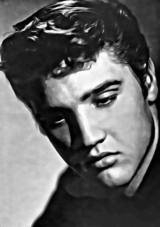 Celebrity Painting - Elvis Presley Painting by Florian Rodarte
