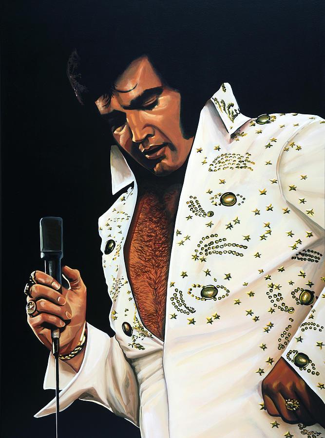 Elvis Painting - Elvis Presley Painting by Paul Meijering